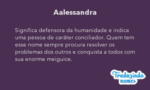 Significado do nome Aalessandra