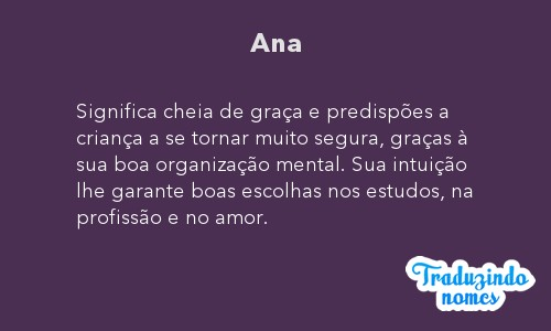 significado do nome Ana