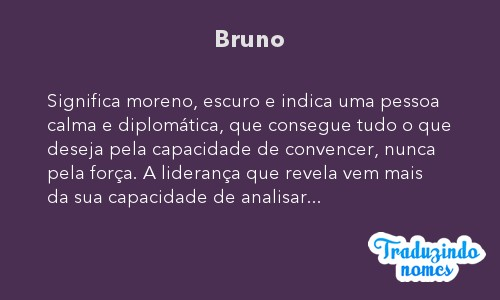 Significado do nome Bruno