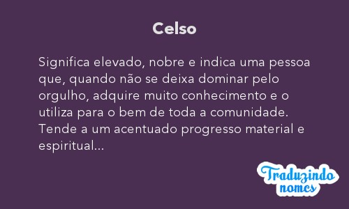 Significado do nome Celso