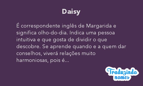 Significado do nome Daisy