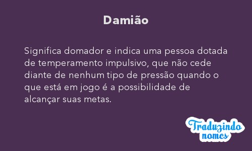 Significado do nome Damião