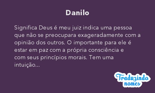 Significado do nome Danilo