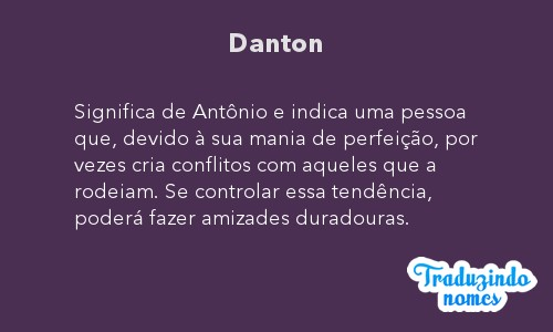 Significado do nome Danton