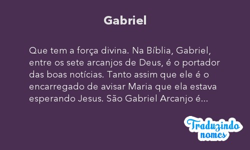 Significado do nome Gabriel