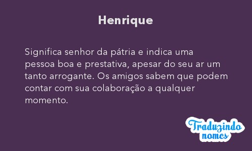 Significado do nome Henrique