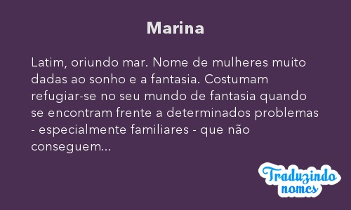 Significado do nome Marina