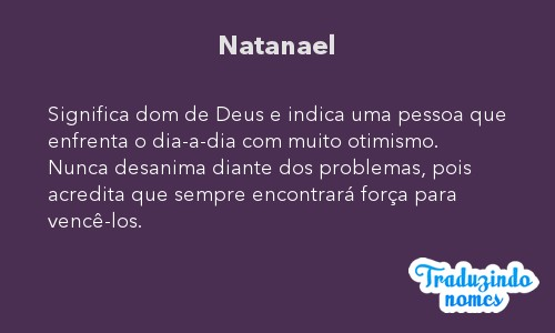 Significado do nome Natanael