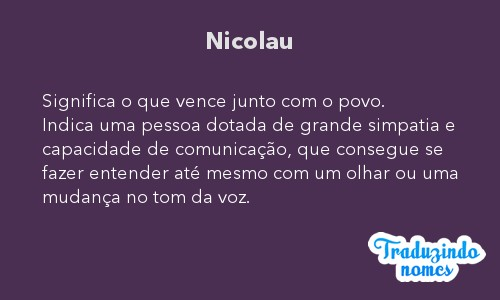 Significado do nome Nicolau