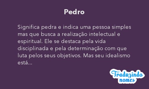 Significado do nome Pedro