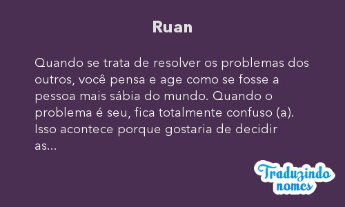 Significado do nome Ruan