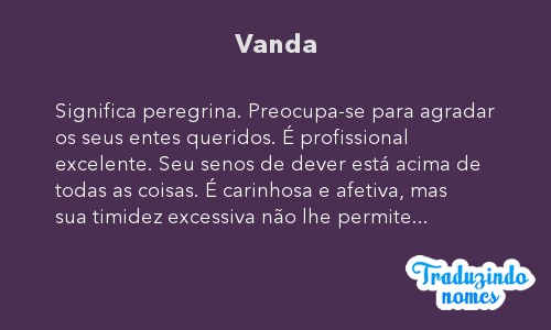 Significado do nome Vanda